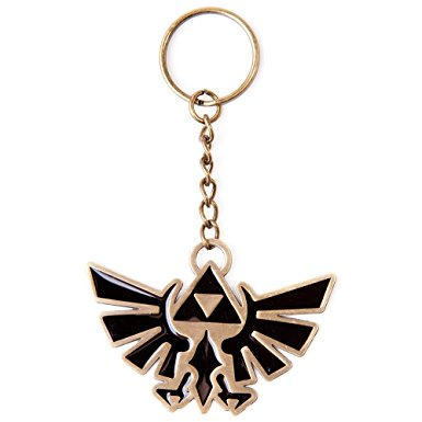 Legend of Zelda Gold Triforce Logo Keychain
