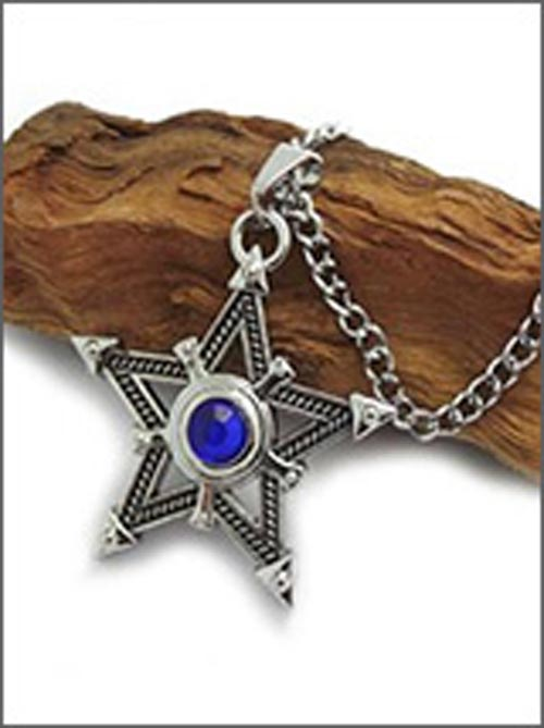 Black Rock Shooter Blue Star Necklace