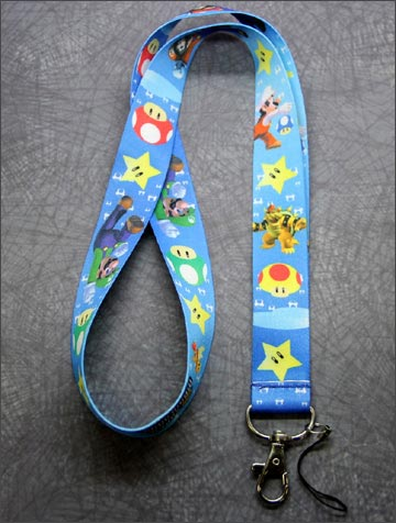Nintendo New Super Mario Bros Lanyard Blue