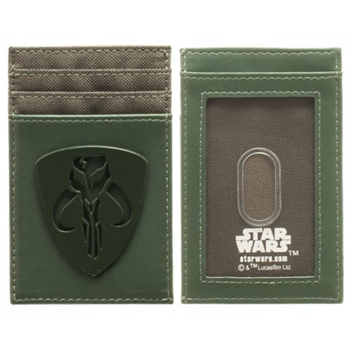 Star Wars Mandalorian Tonal Badge Frontpocket Wallet