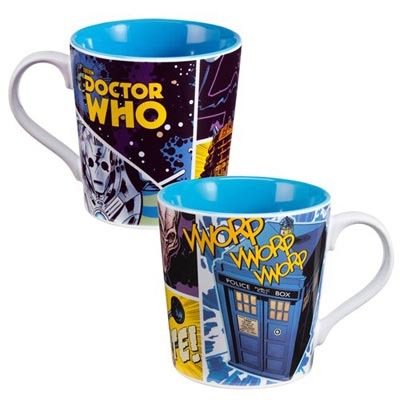 Doctor Who Dangerous Creatures White/Blue Base 12oz Ceramic Mug
