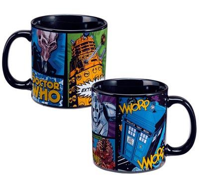 Doctor Who Dangerous Creatures Black Base 20oz Ceramic Mug