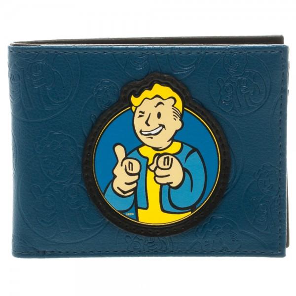 Fallout Vault Boy Blue  Bi-Fold Wallet
