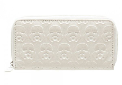 Star Wars Stormtrooper White Embossed Zip Around Wallet