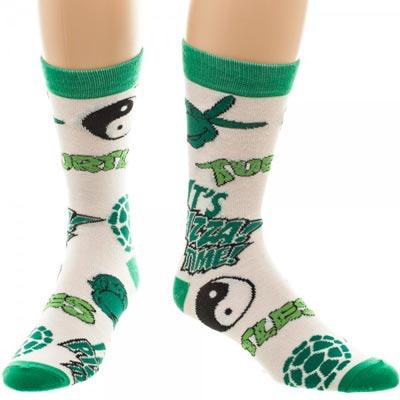 Teenage Mutant Ninja Turtles Multi-Icons All over Print Crew Socks