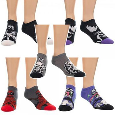 Marvel Villains Character Socks 5 Pairs