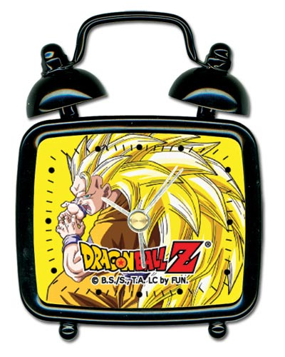Dragon Ball Z Super Saiyan Goku Square Shaped Mini Desk Clock Square