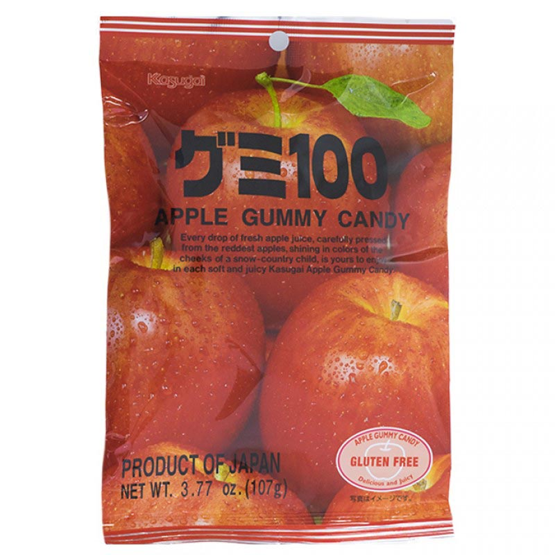 Kasugai Gummy Candy Apple 3.77oz