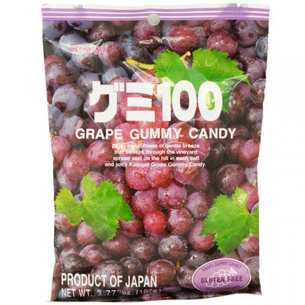 Kasugai Gummy Candy Grape 3.77oz
