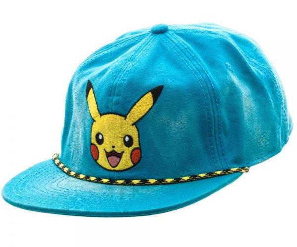 Pokemon Pikachu Washed Blue Snapback