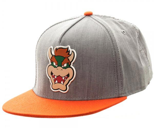 Super Mario Bowser Grey and Orange Snapback