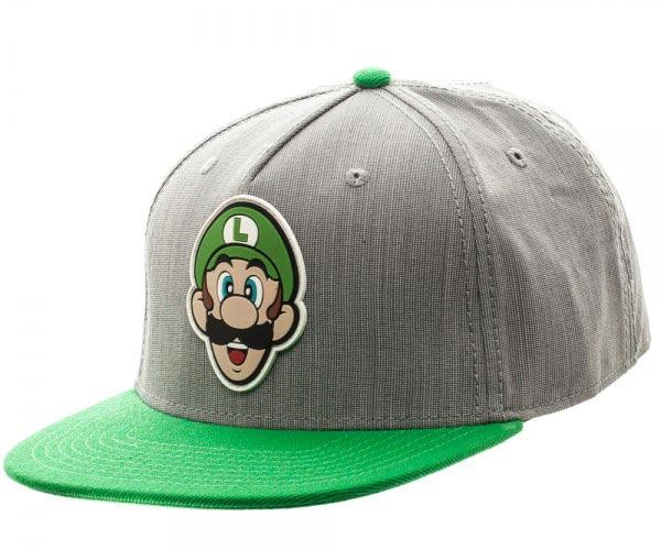 Super Mario Luigi Grey and Green Snapback