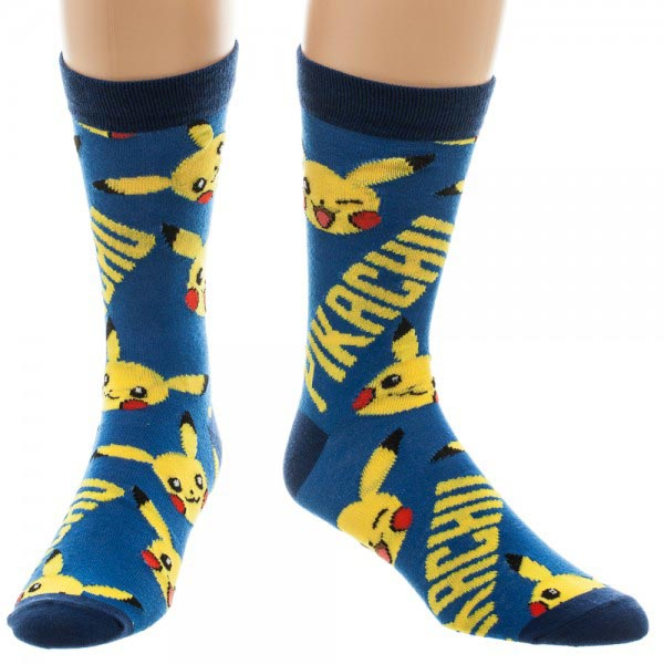 Pokemon Pikachu All Over Print Crew Socks