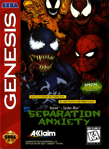 Spiderman and Venom: Separation Anxiety