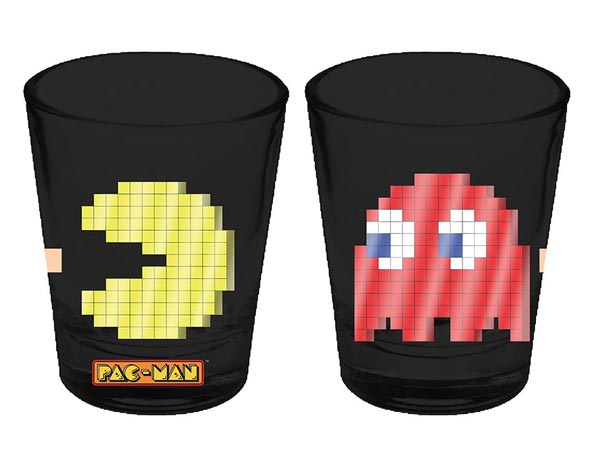Pac-Man and Blinky 8-bit Shot Glass