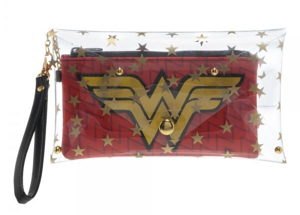 DC Comics Wonder Woman Clear Envelope with Wristlet