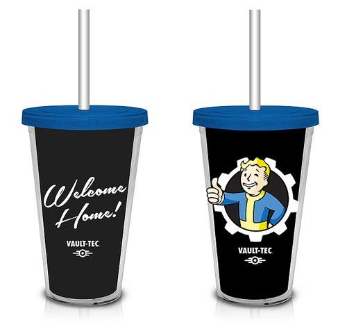 Fallout Black Vault-Tec Logo Carnival Cup