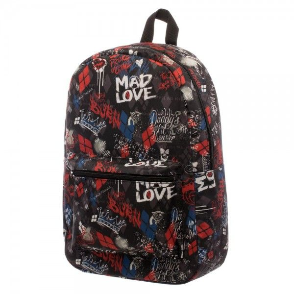 Suicide Squad Harley Quinn Scribble Sublimated Backpack