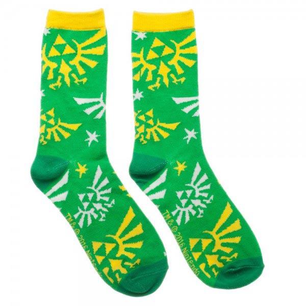 Legend of Zelda Hylian Logo Jrs Crew Socks
