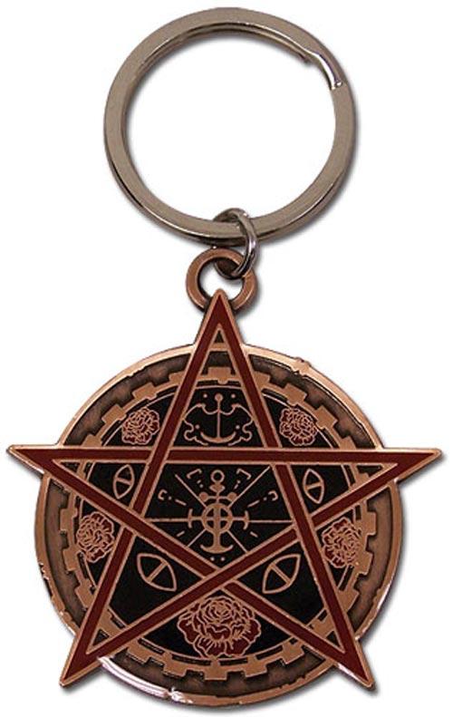 Trinity Blood Rosen Creuz Emblem Metal Keychain