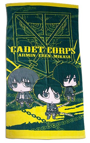 Attack on Titan Group Bath Towel