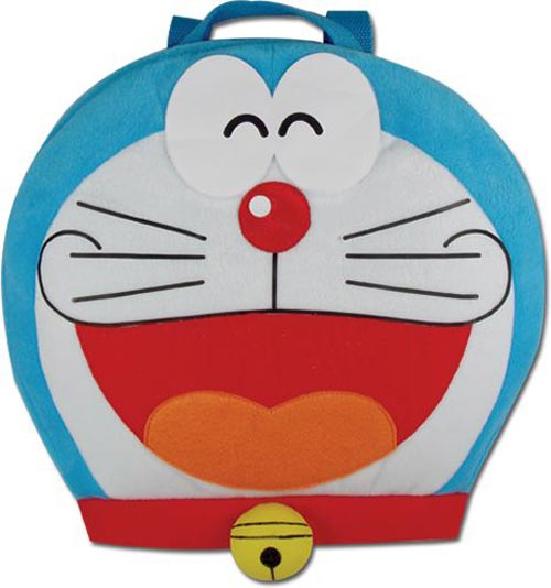 Doraemon Head Plush Backpack