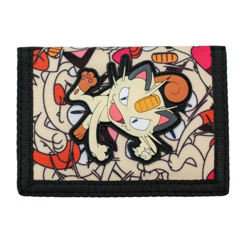 Pokemon Meowth Tri-Fold Velcro Wallet