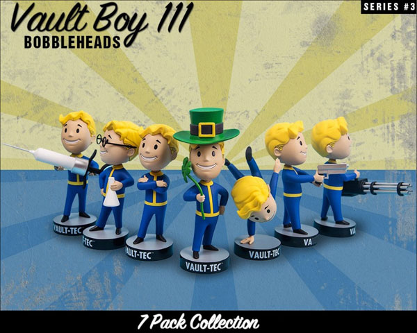 Fallout 3 Vault Boy Bobblehead Vinyl Figures Series 3 7PC Set