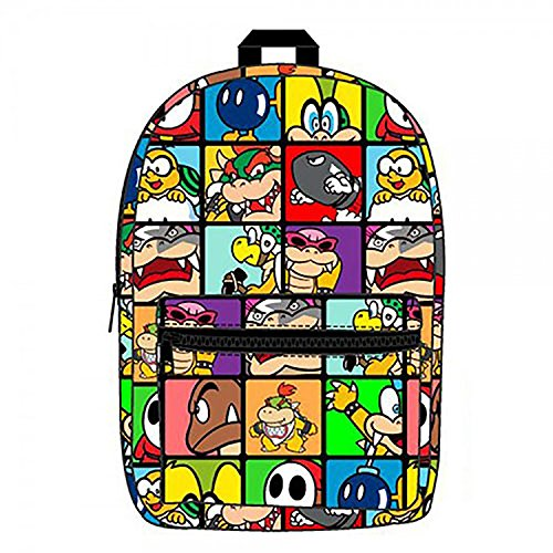 Super Mario Villains Sublimated Backpack