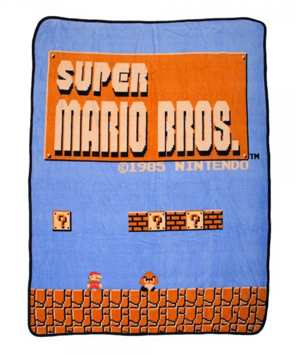 Super Mario Bros Retro Throw Blanket