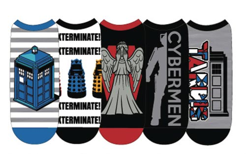 Doctor Who Ladies Low Cut Socks 5 Pk Set D