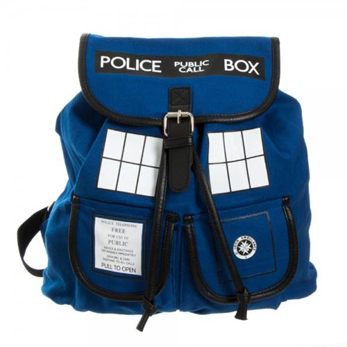 Doctor Who Blue Tardis Knapsack