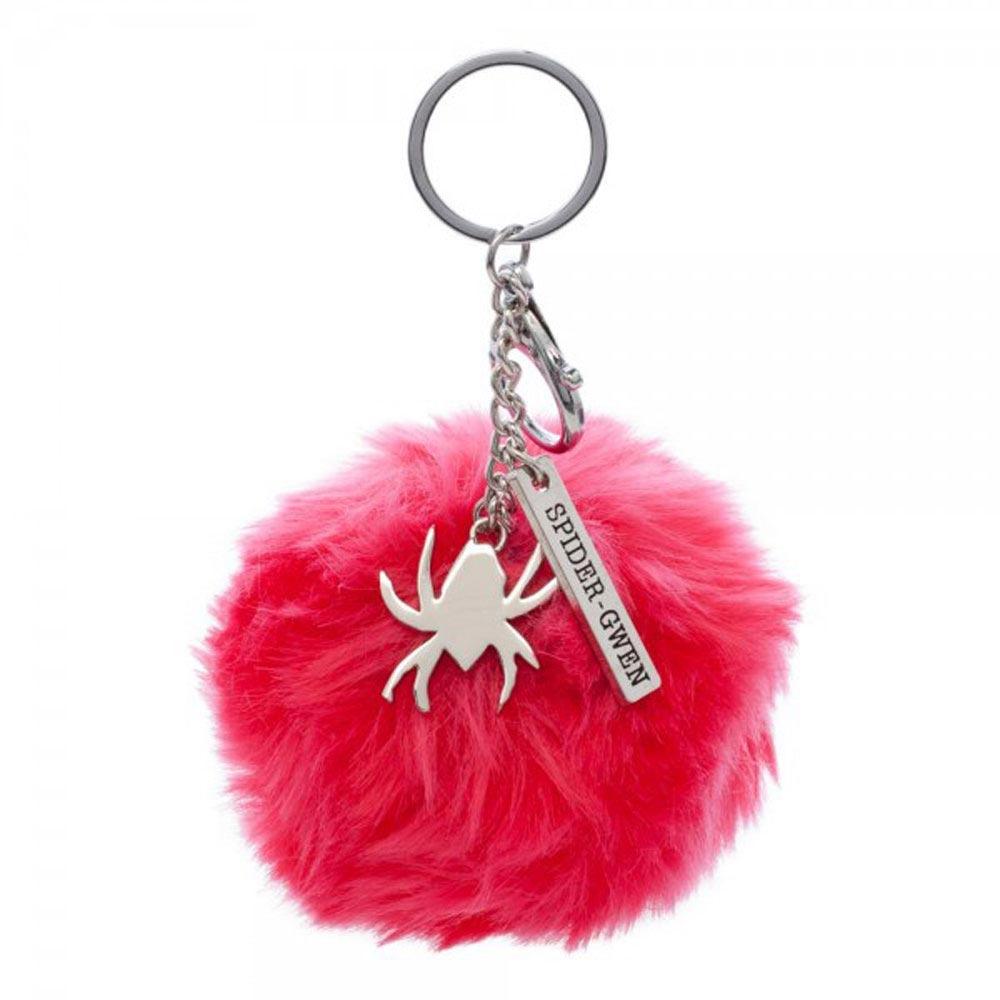 Marvel Spider Gwen Furry Pom Pom Handbag Charm