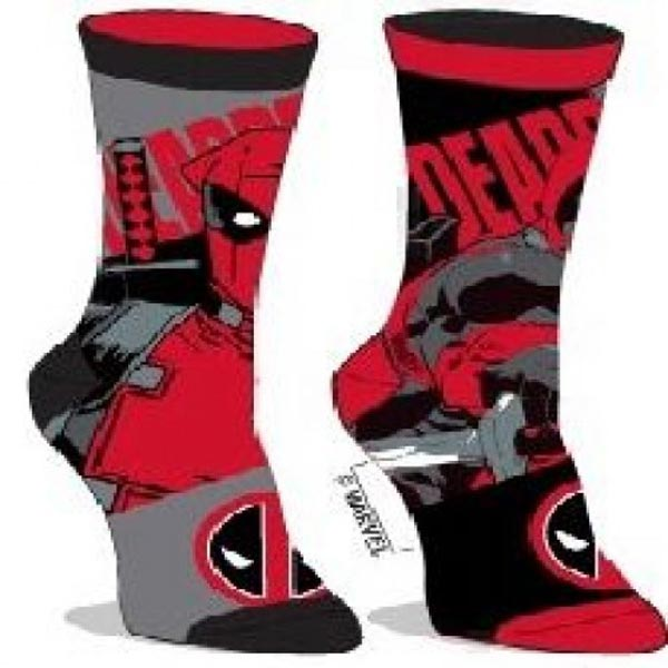Marvel Deadpool Reversible Crew Socks