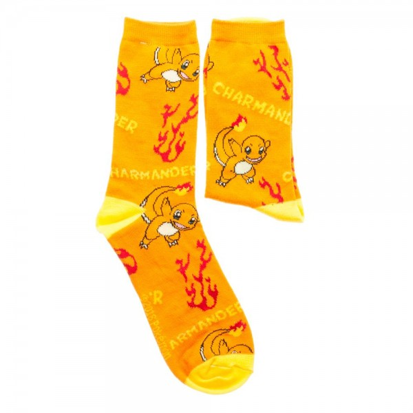 Pokemon Charmander Jrs. All Over Print Crew Socks