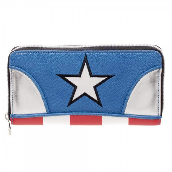 Marvel Captain America Jrs. Zip Around Wallet