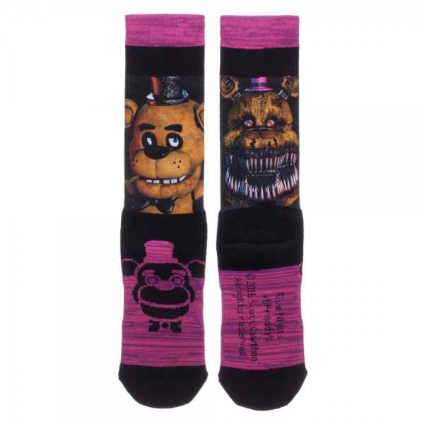Five Nights at Freddy's Sublimated Crew Socks