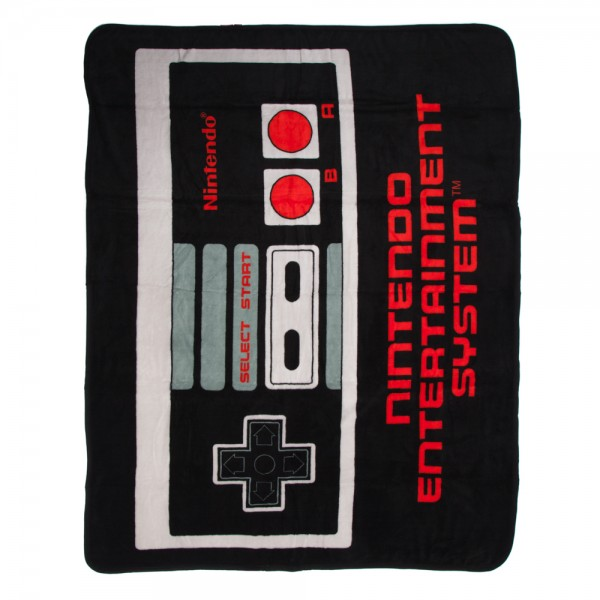 Nintendo NES Controller Plush Throw