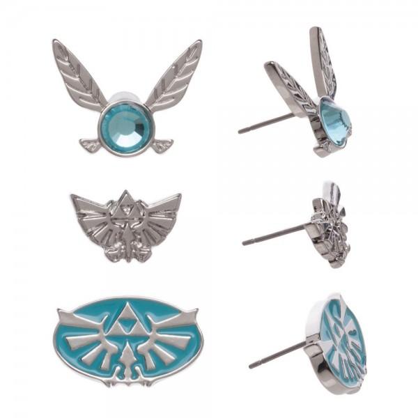 Legend of Zelda Earrings 3 Pack Set