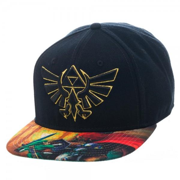 Legend of Zelda Sublimated Bill Black Snapback Hat