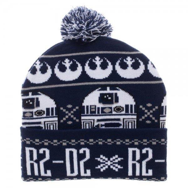 Star Wars R2D2 Cuff Pom Beanie
